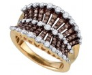 Diamond Cocktail Ring 10K Rose Gold 1.12 cts. GD-72642