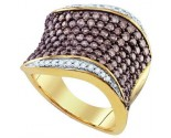 Chocolate Brown Diamond Band 10K Yellow Gold 1.75 cts. GD-72872
