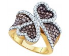 Brown Diamond Fashion Ring 10K Yellow Gold 1.50 cts. GD-72878
