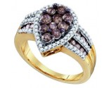 Ladies Diamond Fashion Ring 10K Yellow Gold 1.40 cts. GD-72879