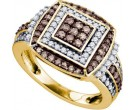 Brown Diamond Fashion Ring 10K Yellow Gold 1.00 ct. GD-72299