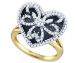 Ladies Diamond Heart Ring 10K Yellow Gold 0.57 cts. GD-72904