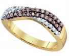 Chocolate Brown Diamond Band 10K Yellow Gold 0.39 cts. GD-72909