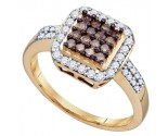 Ladies Diamond Fashion Ring 10K Yellow Gold 0.55 cts. GD-72926