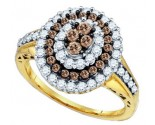 Cognac Brown Diamond Ring 10K Yellow Gold 1.00 ct. GD-72929