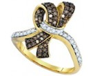 Cognac Brown Diamond Band 10K Yellow Gold 0.50 cts. GD-72933
