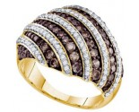 Champagne Diamond Band 10K Yellow Gold 1.40 cts. GD-72942