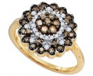 Brown Diamond Fashion Ring 10K Yellow Gold 0.66 cts. GD-72945