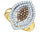 Chocolate Brown Diamond Ring 10K Yellow Gold 1.00 ct. GD-72948