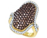 Champagne Brown Diamond Band 10K Yellow Gold 1.00 ct. GD-72989