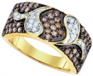 Cognac Brown Diamond Band 10K Yellow Gold 1.00 ct. GD-73027