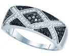 Black Diamond Fashion Ring 10K White Gold 0.41 cts. GD-73030