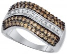 Brown Diamond Fashion Band 10K White Gold 0.90 cts. GD-73038