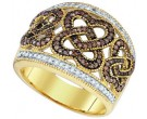 Champagne Brown Diamond Band 10K Yellow Gold 0.51 cts. GD-73121