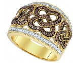 Chocolate Brown Diamond Band 10K Yellow Gold 0.51 cts. GD-73121