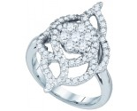 Ladies Diamond Fashion Ring 10K White Gold 1.00 ct. GD-73153