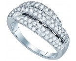 Ladies Diamond Fashion Band 14K White Gold 1.00 ct. GD-73187