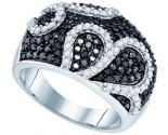 Black Diamond Fashion Ring 10K White Gold 1.54 cts. GD-73425