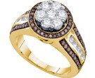Champagne Brown Diamond Ring 10K Yellow Gold 1.39 cts. GD-73612