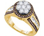 Chocolate Brown Diamond Ring 10K Yellow Gold 1.39 cts. GD-73612