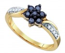 Ladies Diamond Fashion Ring 10K Yellow Gold 0.34 cts. GD-74855