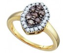Ladies Diamond Fashion Ring 10K Yellow Gold 0.51 cts. GD-74867
