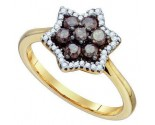Ladies Diamond Fashion Ring 10K Yellow Gold 0.51 cts. GD-74873