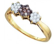Ladies Diamond Fashion Ring 10K Yellow Gold 0.26 cts. GD-74915