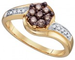 Ladies Diamond Fashion Ring 10K Yellow Gold 0.34 cts. GD-74916