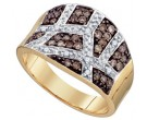 Champagne Brown Diamond Band 10K Yellow Gold 0.51 cts. GD-74921