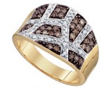 Chocolate Brown Diamond Band 10K Yellow Gold 0.51 cts. GD-74921