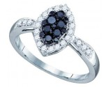Black Diamond Fashion Ring 10K White Gold 0.56 cts. GD-74922