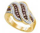 Champagne Brown Diamond Band 10K Yellow Gold 0.51 cts. GD-74932