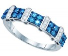 Blue Diamond Fashion Band 10K White Gold 0.70 cts. GD-75025
