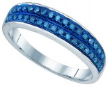 Blue Diamond Fashion Band 10K White Gold 0.21 cts. GD-75082