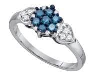 Blue Diamond Fashion Ring 10K White Gold 0.36 cts. GD-75243