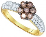 Chocolate Brown Diamond Ring 10K Yellow Gold 0.92 cts. GD-75247