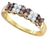 Chocolate Brown Diamond Band 10K Yellow Gold 0.51 cts. GD-75363