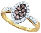 Brown Diamond Fashion Ring 10K Yellow Gold 0.56 cts. GD-75977