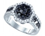 Black Diamond Bridal Ring 10K White Gold 1.17 cts. GD-76052
