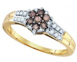 Chocolate Brown Diamond Ring 10K Yellow Gold 0.36 cts. GD-76117