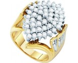 Diamond Cocktail Ring 10K Yellow Gold 2.00 ct. GD-7649