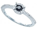 Black Diamond Fashion Ring 10K White Gold 0.39 cts. GD-77247