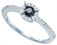 Black Diamond Fashion Ring 10K White Gold 0.39 cts. GD-77247 [GD-77247]