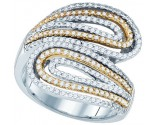Ladies Diamond Fashion Band 10K Two Tone Gold 0.74 cts. GD-77339