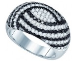 Black Diamond Fashion Ring 10K White Gold 1.99 cts. GD-77344