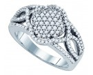 Ladies Diamond Fashion Band 10K White Gold 0.68 cts. GD-77374