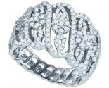 Ladies Diamond Fashion Band 10K White Gold 1.06 cts. GD-77436