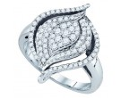 Ladies Diamond Fashion Ring 10K White Gold 0.75 cts. GD-77437