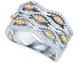 Ladies Diamond Fashion Band 10K Two Tone Gold 0.49 cts. GD-77472